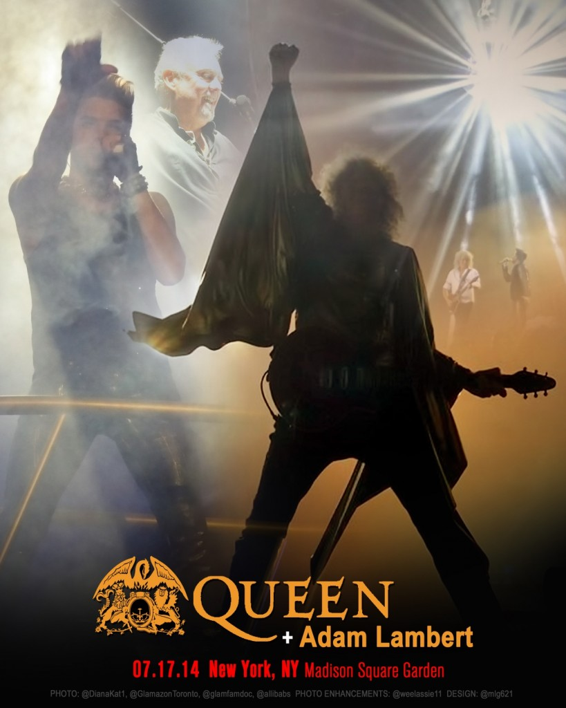 Live queen adam lambert new york ny 7 17 14 adamlambertlive for Madison square garden concert tonight